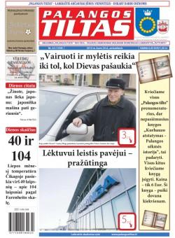 Palangos tilto laikraštis, Data: 2015-03-23, Numeris: 22(1358)