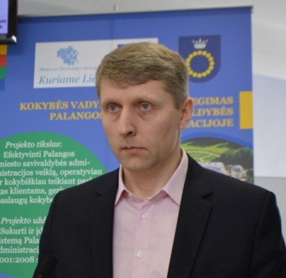 """UAB """"Palangos vandenys"""" direktorius Virgilijus Beržanskis."""