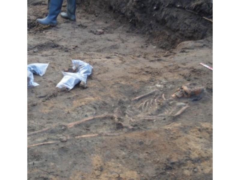 Atrasti žmogaus palaikai liudija apie galimai šioje vietoje buvusias kapines