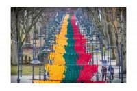 Užfiksuotas naujas Lietuvos rekordas - ilgiausia iš juostelių vėliava