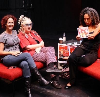 Iš kairės: Elizabeth Ziff, Amy Ziff ir Alyson Palmer. / Žmonės.lt nuotr.