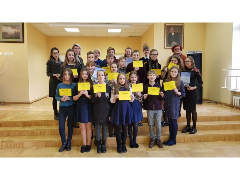 Konkurse dalyvavo gausus būrys mokinių.