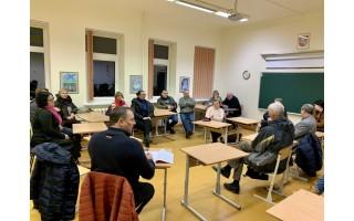 Tarybos opozicijos nariai susitiko su šventojiškiais