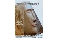 """Bibliotekoje –V. Vaičiūno paroda ir albumo """"Iš medžio iškirsti stebuklai"""" pristatymas"""