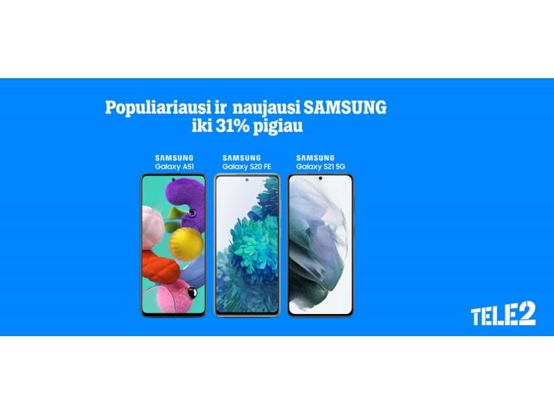 """Ypatingi """"Tele2"""" pasiūlymai: nuolaidos telefonams ir išmanioji televizija už itin patrauklią kainą"""