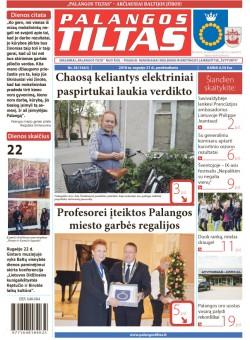 Palangos tilto laikraštis, Data: 2018-09-20, Numeris: 38(1663)