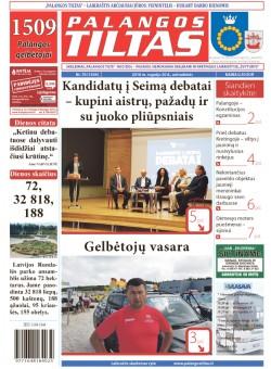 Palangos tilto laikraštis, Data: 2016-09-19, Numeris: 70(1504)