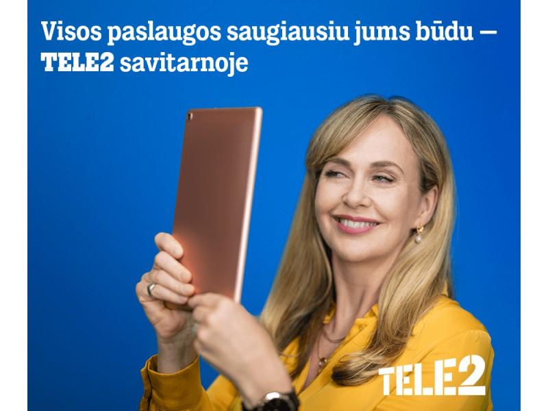 """""""Tele2"""" rūpinasi klientų saugumu – kviečia prekes ir paslaugas įsigyti internetu"""