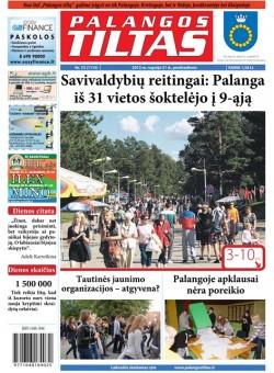 Palangos tilto laikraštis, Data: 2012-09-21, Numeris: 72 (1115)