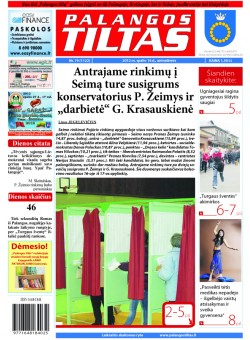 Palangos tilto laikraštis, Data: 2012-10-15, Numeris: 79(1122)