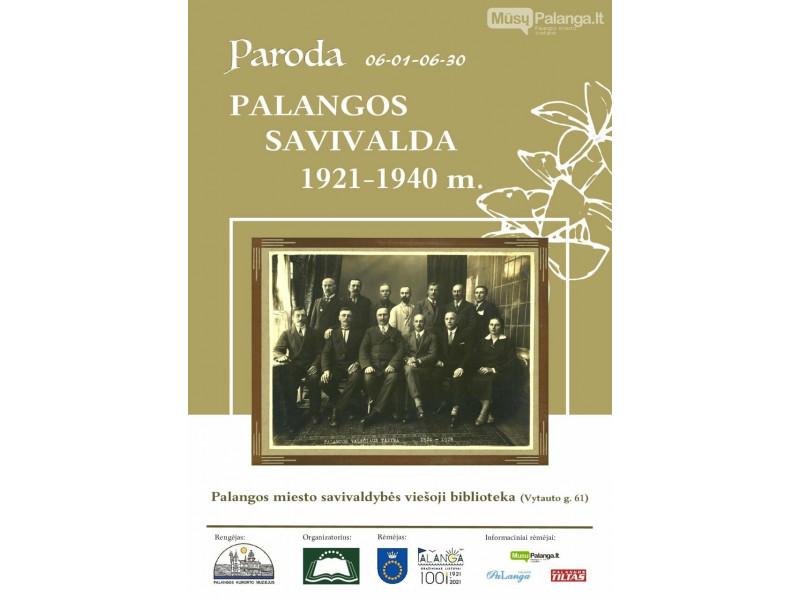 """Palangos miesto bibliotekos interneto skaitykloje birželį vyksta paroda """"Palangos savivalda 1921-1940 metais"""""""
