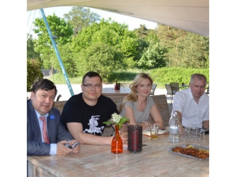 """Pirmojoje šių metų """"Politika gyvai"""" diskusijoje - E. Zingeris, L. Kasčiūnas, A. Bilotaitė ir A. Anušauskas."""
