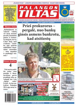 Palangos tilto laikraštis, Data: 2014-09-22, Numeris: 71 (1309)