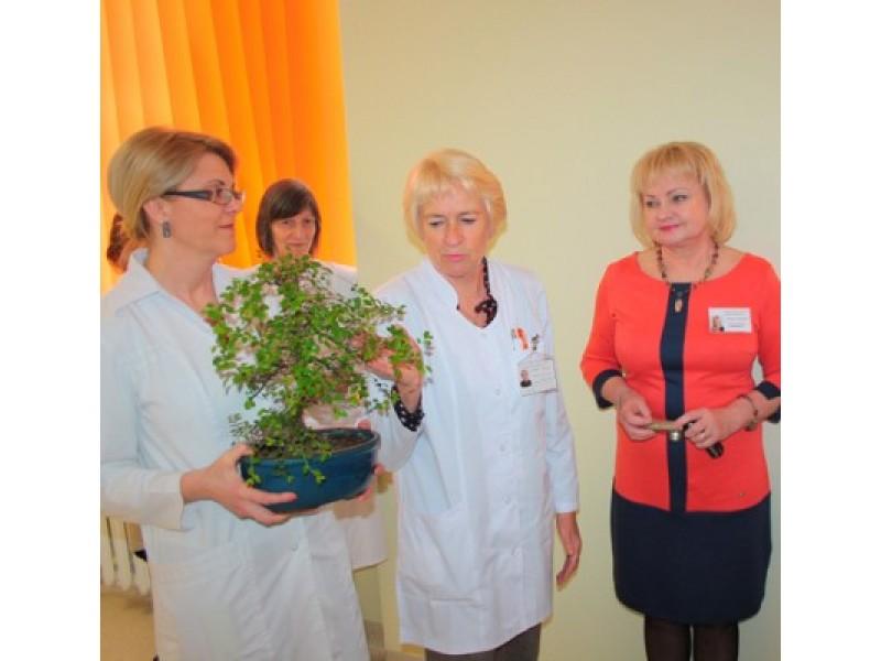 Tarp sveikinusiųjų buvo ir artimiausi kolegos iš Pirminės sveikatos priežiūros centro. / G. Maciaus nuotr.
