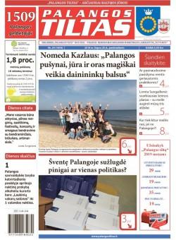 Palangos tilto laikraštis, Data: 2018-07-19, Numeris: 29(1654)