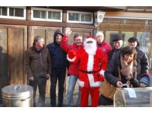 Renginio organizatoriai su Kalėdų seneliu