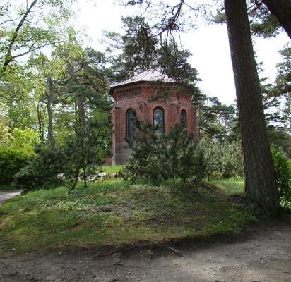 Birutės kalno koplyčia pastatyta 1869 m. pagal architekto K. Majerio projektą.