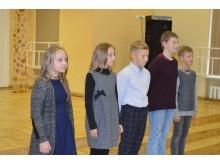 Jaunieji palangiškiai taip pat padeklamavo keletą poeto eilėraščių.