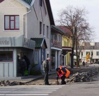 Palangos Senojo turgaus gatvė netrukus virs pėsčiųjų alėja