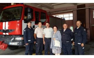 Po žaibo sukelto užgesinto gaisro – padėka ugniagesiams gelbėtojams