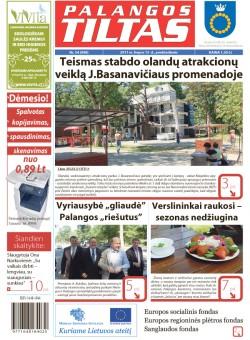 Palangos tilto laikraštis, Data: 2011-07-14, Numeris: 54 (998)
