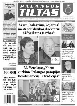 Palangos tilto laikraštis, Data: 2013-11-04, Numeris: 83 (1224)