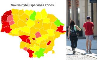 Lietuvoje beliko 3 žaliosios COVID-19 savivaldybės, prasčiausia situacija – Palangoje