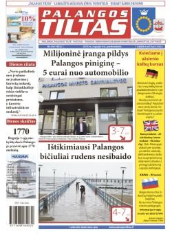 Palangos tilto laikraštis, Data: 2015-09-03, Numeris: 66(1402)
