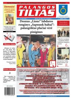 Palangos tilto laikraštis, Data: 2012-12-10, Numeris: 94 (1137)