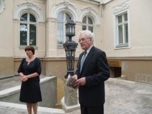 Svečius pasitiko Lietuvos dailės muziejaus direktorius, Palangos miesto garbės pilietis R. Budrys ir Gintaro muziejaus vyriausioji muziejininkė R. Makauskienė.