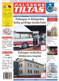 Palangos tilto laikraštis, Data: 2017-01-13, Numeris: 3 (1534)