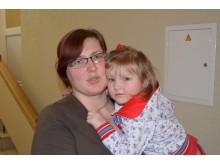 """Laura iš Mažeikių """"Palangos tiltui"""" sakė, kad sanatorijoje su dukryte Greta joms patinka."""