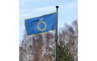 Palangiškė sulaukė nuostabios dovanos – Palangos vėliavos