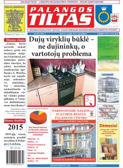 Palangos tilto laikraštis, Data: 2014-09-15, Numeris: 69(1307)