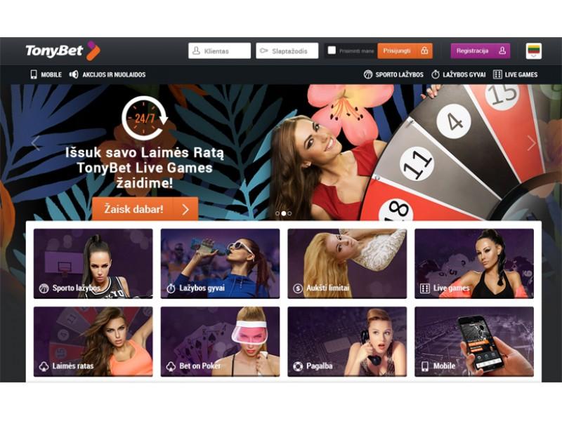 """Eurolygos transliacijos keliasi į internetinę """"TonyBet"""" lažybų svetainę"""