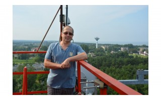 """Palangiškis Aidas Jurkštas svajoja apie švyturių turizmą ir švyturių muziejų Šventojoje (VISĄ STRAIPSNĮ SKAITYKITE RYTOJAUS """"PALANGOS TILTE"""")"""