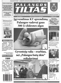 Palangos tilto laikraštis, Data: 2014-01-20, Numeris: Nr. 6 (1244)