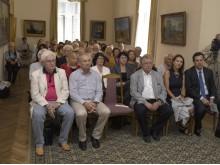 Svečiai susirinko į grafų Tiškevičių rūmų didįjį saloną. / Ado Sendrausko nuotr.