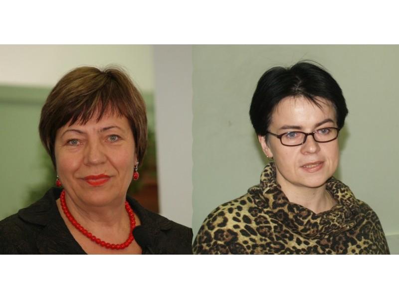 Palangos miesto savivaldybės Vaiko teisių apsaugos skyriaus vedėja Emilija Lapėnienė ir Palangos miesto socialinių paslaugų centro vadovė Daiva Dekontaitė.