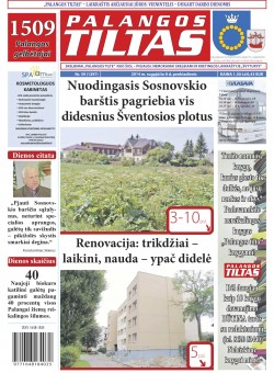 Palangos tilto laikraštis, Data: 2014-08-07, Numeris: 59(1297)