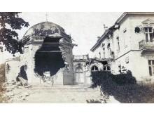 Pirmojo pasaulinio karo metu apgriauta Tiškevičių rūmų koplyčia. Iš S. Žulkaus kolekcijos.