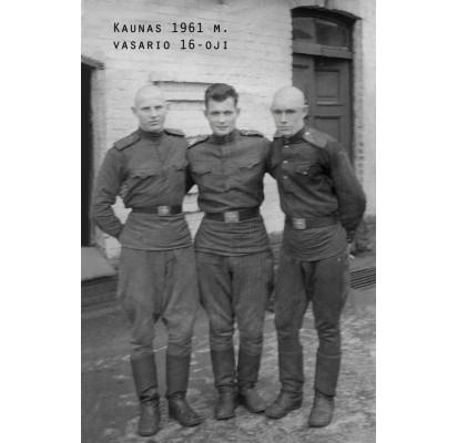 Petras Neverauskas - pirmas iš kairės;
