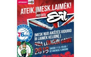 Laimėk kelionę į NBA rungtynes BostonCeltic-Philadelphia 76ers bei sportinę avalynę!