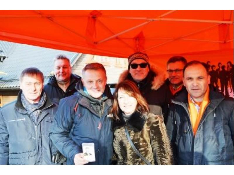 Į Palangos stintų šventę atvyko ir Lietuvos Liberalų sąjūdžio pirmininkas Eligijus Masiulis
