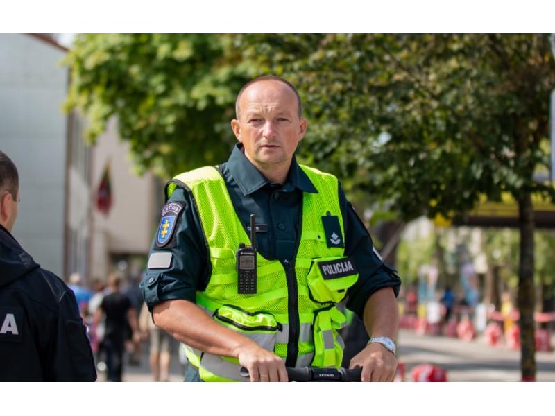 Skuodo rajono policijos komisariatui vadovaus Palangos miesto PK Veiklos skyriaus viršininkas Kęstutis Bončkus