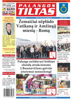 Palangos tilto laikraštis, Data: 2013-03-14, Numeris: 20 (1161)