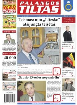 Palangos tilto laikraštis, Data: 2012-01-12, Numeris: 4 (1047)