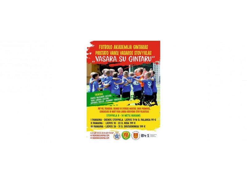 """Futbolo akademija """"Gintaras"""" organizuoja vasaros futbolo stovyklas Palangoje, Nidoje ir Druskininkuose"""