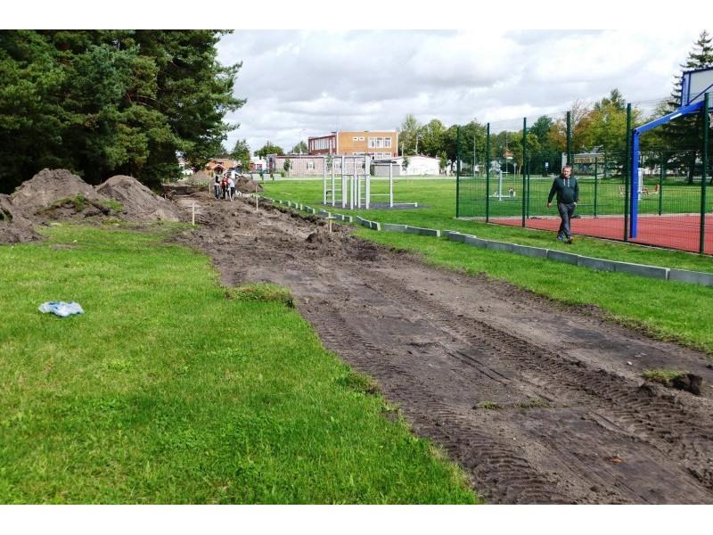 Prasidėjo Šventosios stadiono rekonstrukcija