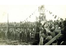 Jūros šventė ant Palangos tilto, 1939 m. rugpjūtis. Iš  S. Žulkaus kolekcijos.